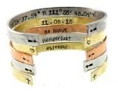 Hand Stamped Jewelry - Hidden Message - Mantra Bracelet - Custom Bracelet - Personalize Engraved Cuff - Expressions Bracelets Mantra