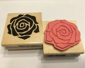 Large Rose rubber stamp, 45 mm (SB2)