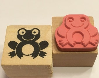 "small "" Frog"" rubber stamp, 20 mm (F1)"