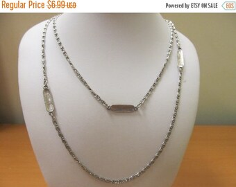 ON SALE Vintage Chain Link Station Necklace Item K # 2724