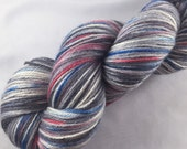 This Little Droid: Star Wars inspired yarn , R2D2, droid, hand dyed sock yarn, nerd yarn, fingering weight, knitting supplies