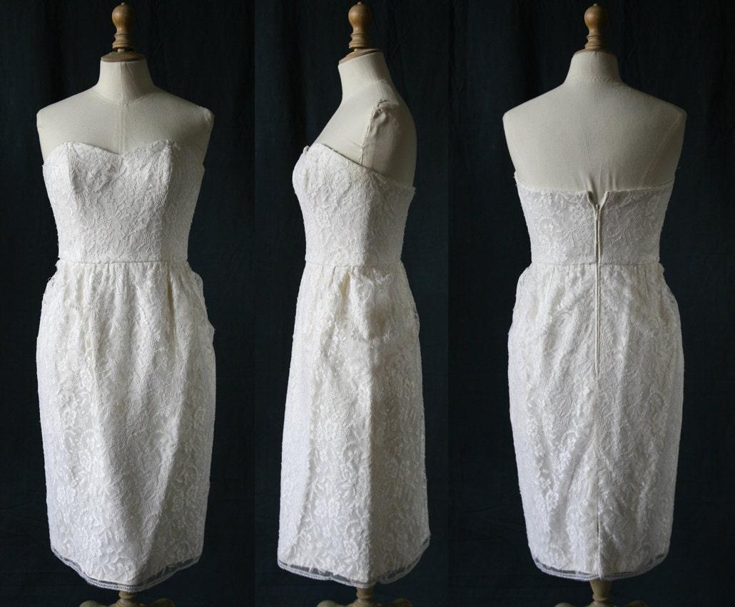 Wedding short corset dress french lace single model vintage for French lace wedding dress