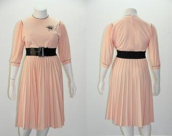 LG - XL Vintage Dress - 1970s does 1940s Dress