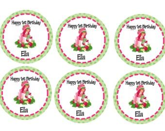 24 - Strawberry Shortcake Labels, Strawberry Shortcake Birthday Party