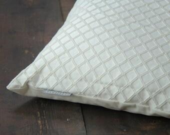 Throw Pillow Cover // Cream Pillows Diamond Pattern // Off-White Throw Cover // Cream Pillow Covers Decorative Pattern // Ivory Throw Pillow