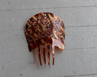 Vintage Mantilla Spanish Comb Faux Tortoise Shell // Hair Comb // Hair Accessory // Mantilla // Celluloid // 25401