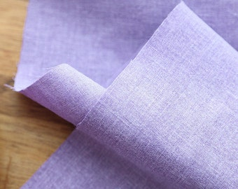 Violet Cotton Linen Fabric, Washing Linen Fabric - 59 Inches Wide - By the Yard 86529