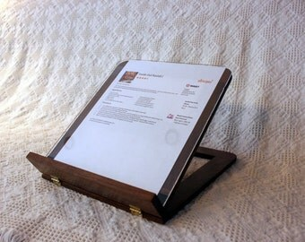 Wooden Recipe Stand (For Full Sheets) made from Walnut