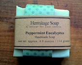 Peppermint Eucalyptus Soap: Cold Process Soap, Vegan soap,  Palm Free soap, Handmade Soap, natural soap, essential oil soap