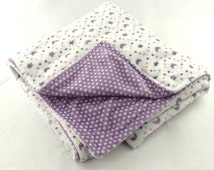 Baby Blanket Minky, Moon and Stars, Baby Shower, Car Seat blanket