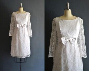 Scout / 60s short wedding dress / 1960s dress