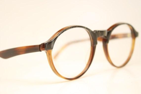 Eyeglass Frames Unique : Vintage Eyeglasses P3 Unique Tortoise Retro by PinceNezShop