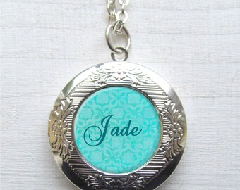 Personalized Locket Necklace, Name Necklace, Customized Photo Locket