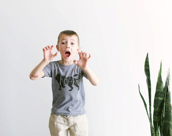 Lions Say ROAR Toddler Tee • Unique Illustrated Kids Clothes • Hand Lettered Lion Design • Roar Wild Animal Shirt for Kids • FREE SHIPPING