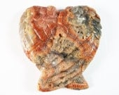 Crazy Lace Agate Angel Wing 2 Inch 30g Carved Stone Meditation Intuition Scrying Gemstone