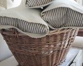 Linen and Ticking Pillows