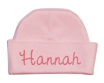 Customized Pink Baby Hat