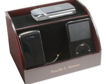 Customized Rosewood Electronic Charging Station