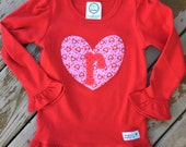 Limited Edition Valentine's Day Heart Ruffle Shirt For Baby, Toddler, Youth