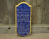 Lake Rules Original Hand Painted Wooden Sign Wall Decor