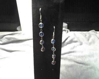 Purple and Blues Swarovski Crystal Earrings