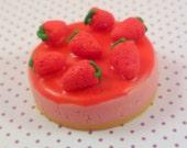 1:12 scale Strawberry Cheesecake....handmade.....miniature