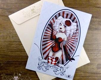 "Fizzing Cherry cabaret burlesque postcard ex-libris // 6""x8.4"" + envelope"
