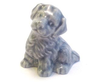 Wade Whimsie: Blue Mongrel / Dog Figurine  - 1990/91