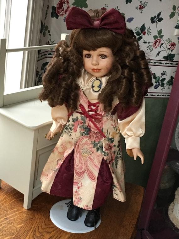 beautiful dan dee collectors choice bisque porcelain doll 17. Black Bedroom Furniture Sets. Home Design Ideas