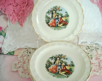 Vintage Dessert Plates Taylor Smith Taylor Bread Butter Plates Regency Louis XIV Shabby Chic Set of 4 Vintage Wedding