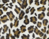Brown Cheetah Faux Fur Upholstery Fabric - Animal Pillow Covers - Plush Animal Ottoman Pouf Fabric - Dark Brown Animal Print Throws Online