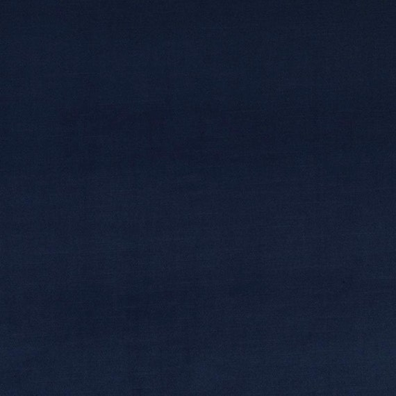 Navy Blue Velvet Upholstery Fabric Solid Dark By