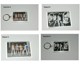 Abba Magnets and Keychains Choice of Images