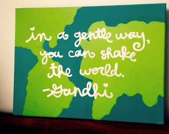 Shake the World Quote Canvas