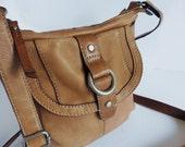 Saddle Tan Fossil 70s Style Shoulder Crossbody Bag