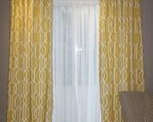 Ready to ship Deco Barley  2 Curtain Panels