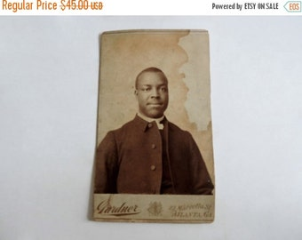 SHOP CLOSING SALE 19th Century African American Photograph. Atlanta Cabinet Card