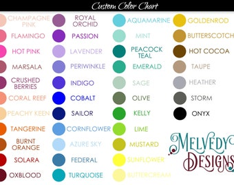 ADD ON Custom Colors for the Cover of a Melvedy Designs Planner