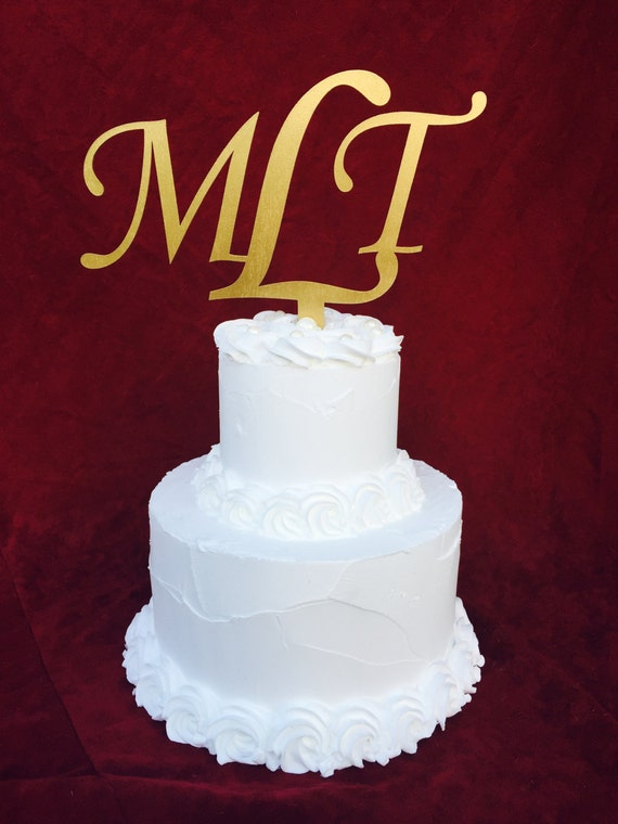 Design Your Own Monogram Cake Topper : Personalized Monogram Cake Topper for Wedding Gift