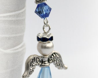 Something Blue Bouquet Charm Wedding Gift Bridal Gift Old New Borrowed Blue