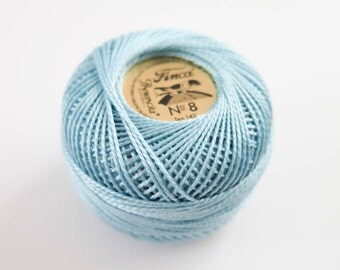 Perle Cotton Thread   Finca Presencia Pearl Cotton, Embroidery Thread - Light Blue (3556)