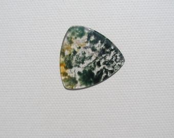 Guitar Pick - Custom Made - Green Moss Agate - Gemstone Guitar Pick