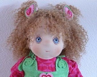 Minke, a Handmade Soft Cloth Doll, made of natural materials