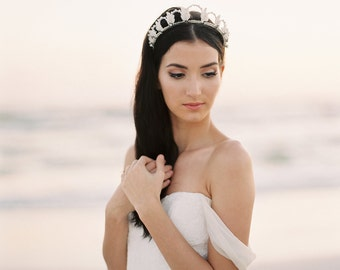 Bridal Crown. Wedding Tiara. Bridal Flower Crown {Grace}