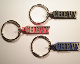3 Assorted Chevy Key Chains Key Rings