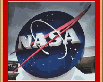 NASA Sign Cross Stitch Pattern
