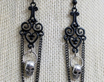 Skull Chandelier Earrings