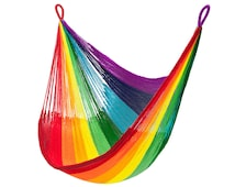 Hanging Chair Hammock: Rainbow Stripe by Yellow Leaf | Free + Fast Shipping