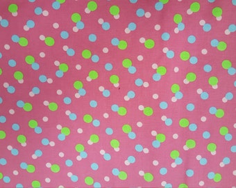 Dots on Hot Pink by Fabric Finders