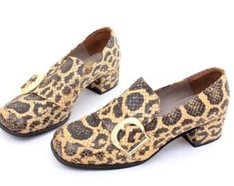 Vintage Snake Skin Pumps Size 4,5